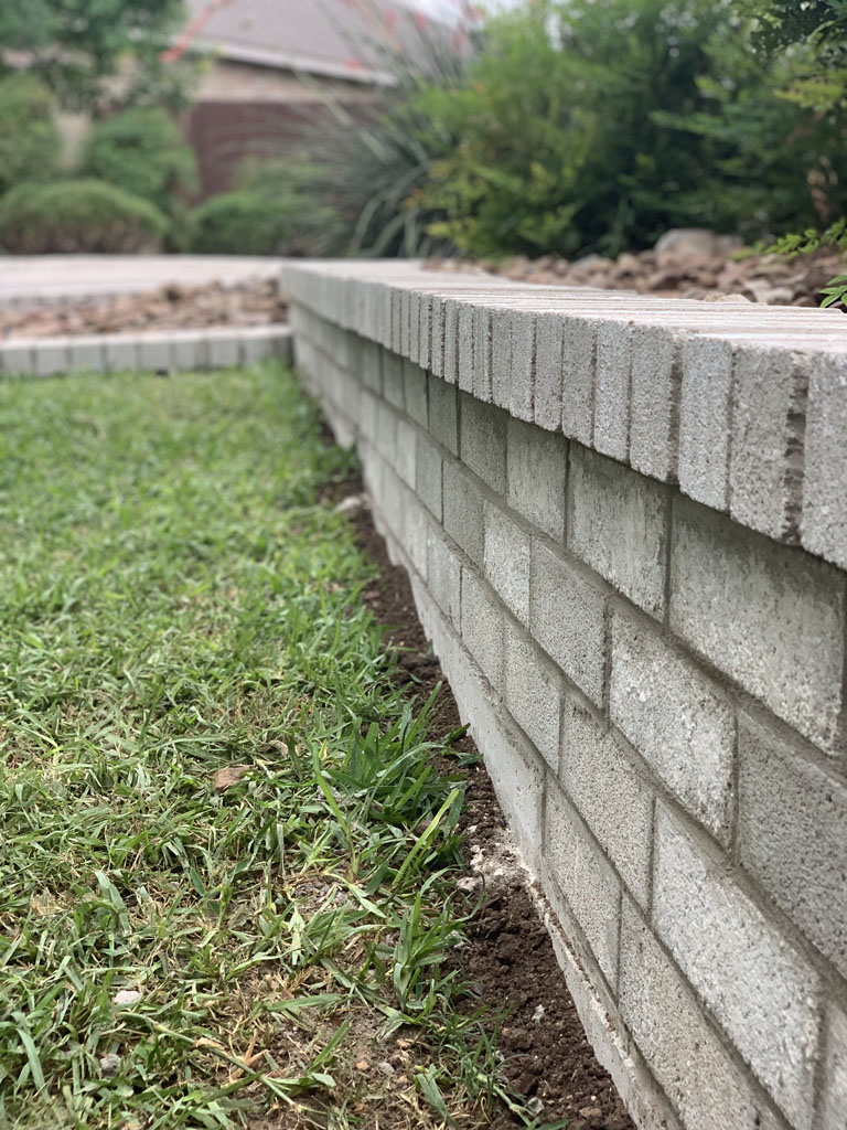 Concrete Blocks retaining wall