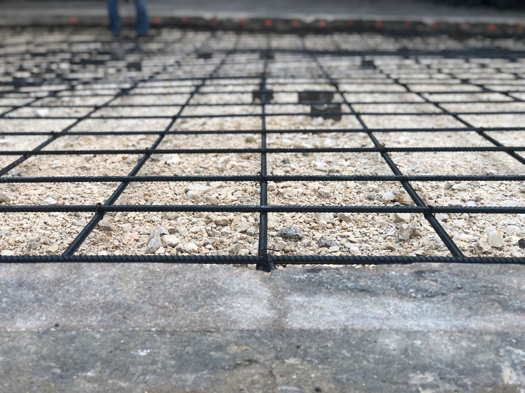 framework for concrete pour