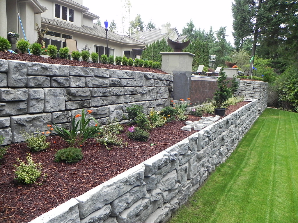 Levels of Retaining Walls in Garden