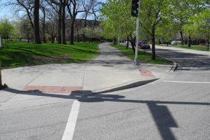ADA Curb ramp to street