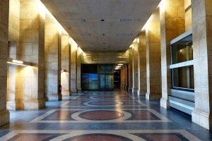 Colored Concrete Floor in Building