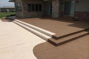 Colored Concrete Patio Backyard