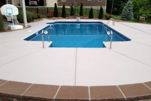 Residential Concrete Pool Deck