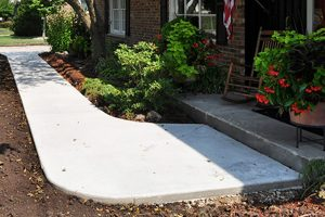 Concrete Sidewalk to House