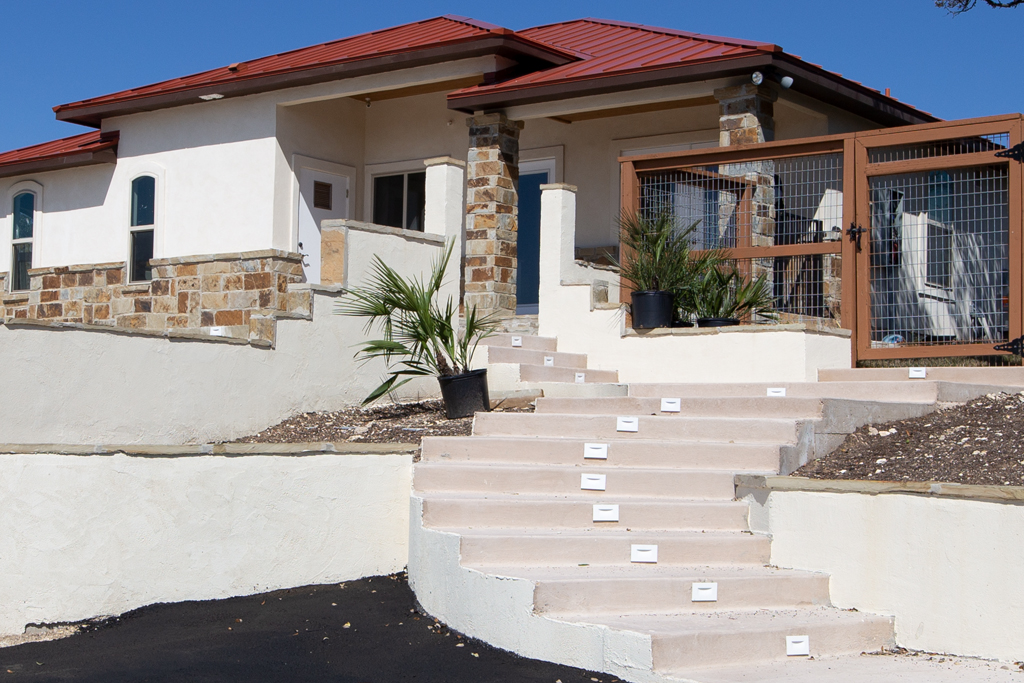 Concrete Stairs to House
