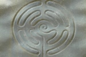 Engraved Circle Maze In Concrete