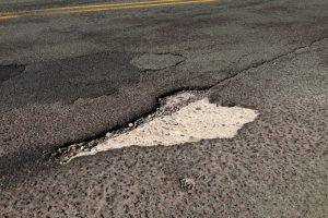 Pothole in street