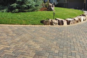 Brick Pavers Curved Driveway