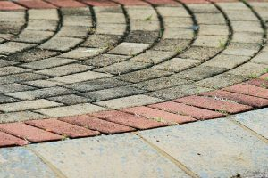 Half Cirlce Design of Brick Pavers