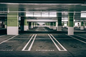 Compact Parking Spots in Parking Garage