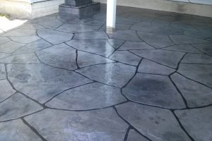 Gray Flagstone Patio