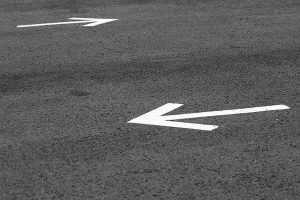 Directional Arrows in Parking Lot