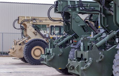 Image of a rough terrain container handlers