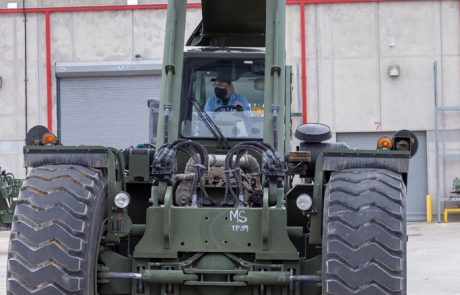 Image of a rough terrain container handler